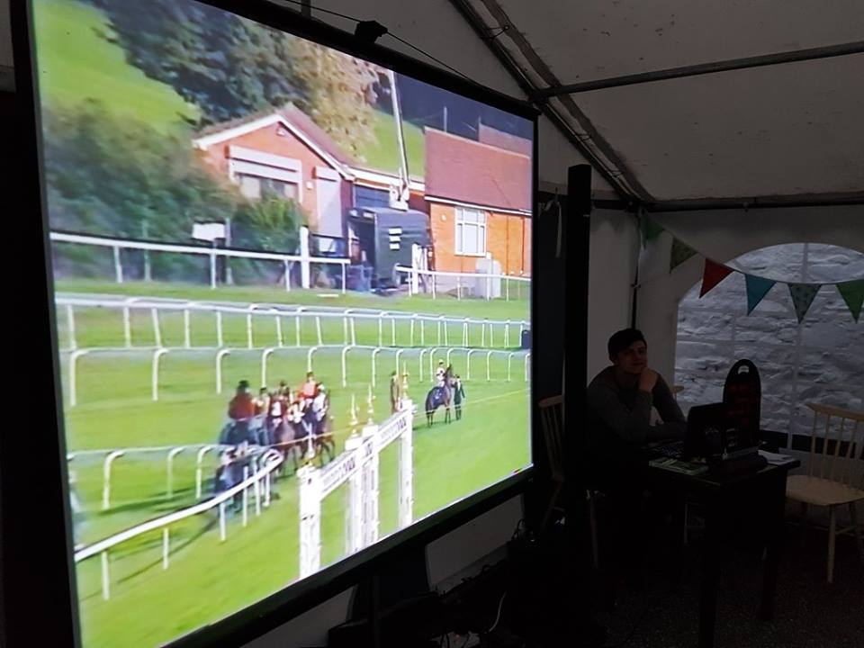Projector used at Night At The Races NI